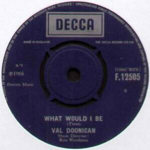 """VAL DOONICAN ~ WHAT WOULD I BE / GENTLE MARY ~ 1966 UK VINYL 7"""" SINGLE"""
