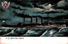 U.S BATTLE SHIP VIRGINIA PRE 1907 PC