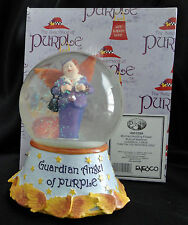 Enesco Sisterhood Of Purple Woman With Wings Music Watterglobe Nib Free Usa Ship