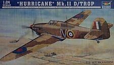 Trumpeter 1/24 Hawker Hurricane MK 11 D/Trop Fighter Model Kit New 2417