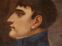 CESARE DA MONZA PORTRAIT DE NAPOLEON BONAPARTE Huile sur toile signée Roi Italie