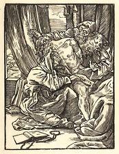 ALFRED RETHEL - Beweinung - Holzschnitt 1850