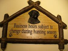 Cabelas Black Labrador Wall Hanging Sportsmans Sign Great Xmas Gift Idea Hunting
