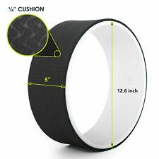 Yoga Wheel 12.6 inch Back Roller Durable Chirp Plexus Dharma For Poses Black