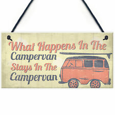 Campervan Camper Caravan Motorhome VW Gifts Travel Holiday Hanging Door Sign