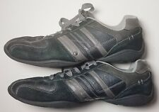 PERRY ELLIS America Men's Size 12 Casual Lace Up Shoes Sneakers Black Leather