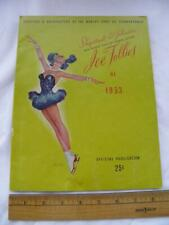 New listing 1953 Ice Follies Official Program