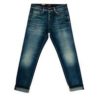 JACK & JONES Homme 'S Mike Confort Coupe Standard Montant Bleu Jean Taille