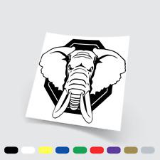 Adesivi in vinile Stickers Prespaziati Elefante 2 Moto Auto Notebook Parete Pc