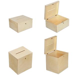 Creative Deco Holzkiste Hochzeit Holzbox Geldbox   mit Schloss und Schlüssel