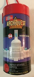 Archiquest United States Capitol Building Wooden Architectural 54 Blocks Set New