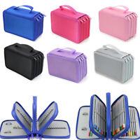 4  Layer Large School Pencil Case Zipper Box Bag Student Pencil Holder
