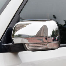 For Mitsubishi Pajero V80 2007-2019 Chrome Side Door Rearview Mirror Cover Trim