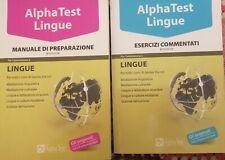 ALPHA TEST LINGUE, MANUALE PREP. + ESERCIZI COMMENTATI, II edizione