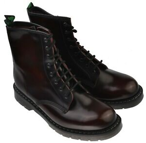 Solovair S8 - 551 8 Eye Derby Boot Burgundy Leather UK Size 10.5 F Fitting