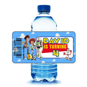 20 TOY STORY Birthday Party Water Bottle Labels Wrappers Party Favors
