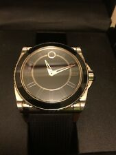 Men Movado MASTER AUTOMATIC watch. Black Dial Rubber XL case. Swiss made