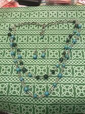Turquoise? Ball Bead Double Deck Necklace With Earring Set FREE SHIPPING
