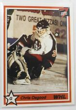 1990-91 7th Inning Sketch WHL #24 Chris Osgood Medicine Hat Tigers (WHL) Card