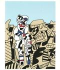 Jean Dubuffet Inspection Of The Territory Serigraph Edition of 1000 20x26.75