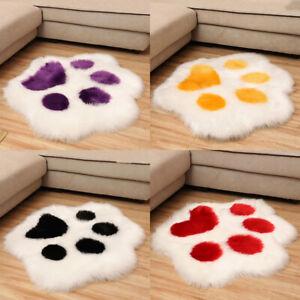 Cat Paw Plush Chair Cushion Child Seat Cushion Sofa Back Pillow Mat Home Decor
