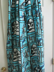 Star Wars Rod Pocket Curtain Panel 40 X 63 Blue/Black/White
