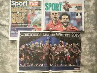Liverpool FC Champions League Winners 2018/19 Newspaper Clippings Articles 02/06