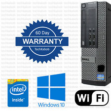 Dell Desktop PC Computer Windows 10 i3 Quad 8GB RAM 320GB WiFi Dual Monitor Port