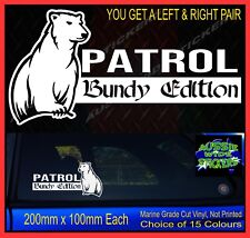 PATROL stickers accessories Ute 4x4 MX Funny decal BUNDY EDITION 200mm PAIR