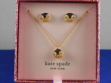 Kate Spade Dashing Beauty Penguin Boxed Set Crystal Pave Pendant Stud Earrings