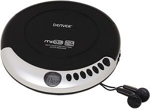 Personal CD Player MP3 Auto Resume ideal for Audio Books Denver DMP-390 Portable