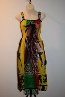 Bob Marley Dress rasta Hippie reggae boho Comfy Peasant one size ladies 8-14