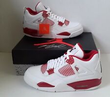 Nike Air Jordan 4 Retro Alternate White Black Gym Red 308497 106 Size SZ 14 NEW