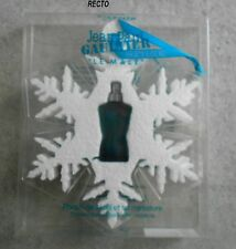 """Miniature de parfum JEAN PAUL GAULTIER """" Le Male """" Flocon de Noël EDT 3,5 ml"""