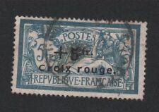 France N° 123 5 f Merson +5 fr Croix-Rouge oblitère
