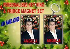 Tom Cruise Christmas Key Ring & Fridge Magnet Gift Set Secret Santa Gift