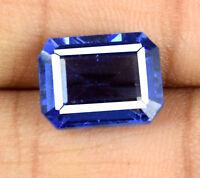 Blue Tanzanite VS Clarity Gemstone 7-8 Carat Natural Octagon Cut AGSL Certified