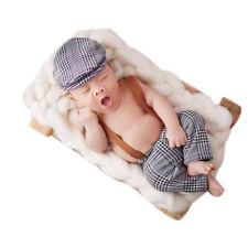 Neugeborenen Baby Fotografie Kostüm Mütze Fotoshooting Trägerhose Spielzeug Neu