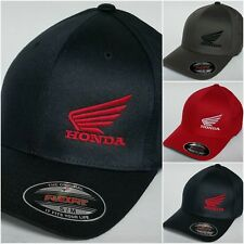Honda MC Wing FLEXFIT Baseball Hat Cap Honda Motorcycle Flexfit Style 6277