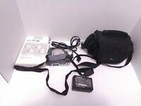 Hitachi DZ-BX35A DVD Camcorder w/ Charger, 2 Batteries. Power Cords, Carry Bag