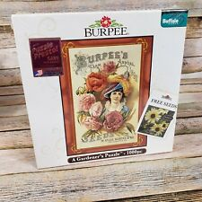 "Burpee A Gardeners Jigsaw Puzzle 1000 Pieces Size 27"" x 20"" Buffalo Games"