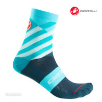 Castelli TALENTO 12 cm Tall Cuff Cycling Socks : LIGHT TURQUOISE - One Pair