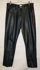 Men's Calvin Klein Black Leather Pants Size 34 x 31