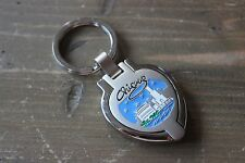 Chicago Skyline Flip Photo Holder Key Chain