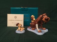 "WDCC Lady and the Tramp - Trusty & Puppy ""Old Dog, New Tricks"" & ""Playful Pup"""