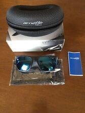 Arnette FireDrill Black/Purple Sunglasses Blue Lens