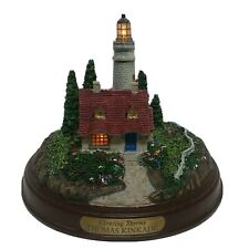 "Thomas Kinkade ""Clearing Storms"" Light Up Cottage Lighthouse"