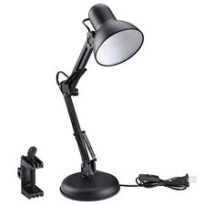 Flexible Swing Arm Clamp Mount Lamp Office Studio Home Table Desk Light Click on