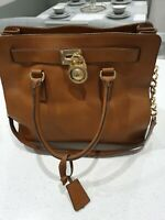 Genuine Michael Kors brown leather Hamilton  bag