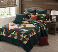 Cricket Hollow-3 Pc.Quilt Set-Queen/Full 90 x 90 In With 2 Shams